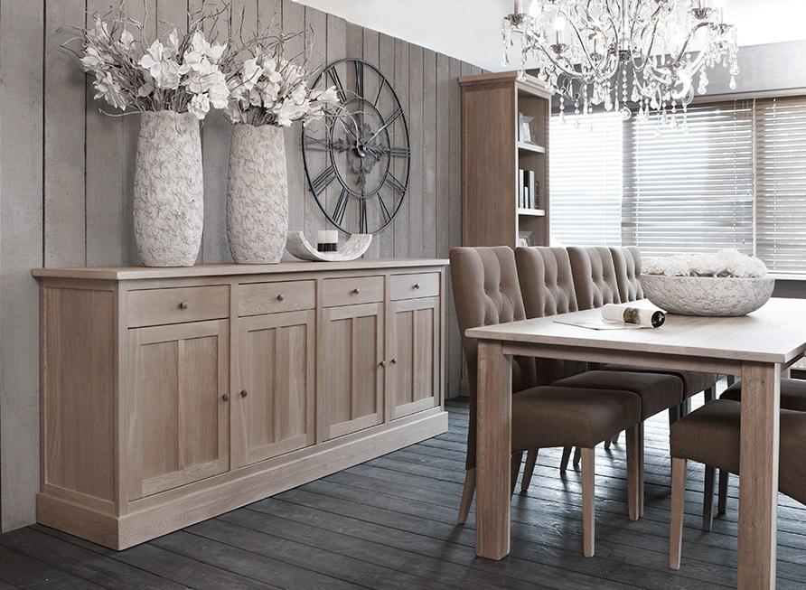 Bks sheffield collectie bks meubelen kasten dressoirs - Eetkamer interieur decoratie ...