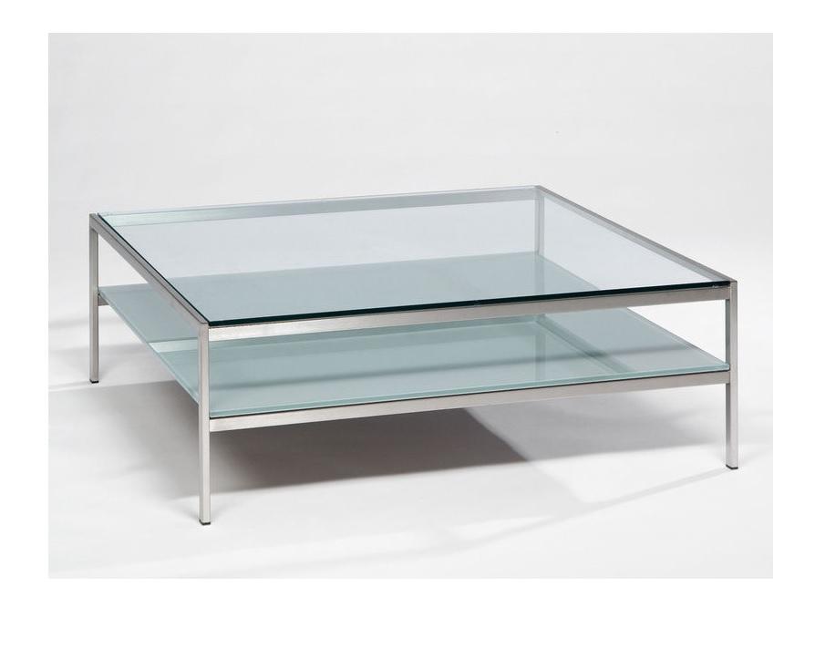 Glazen salontafel bijzettafels op maat verkrijgbaar