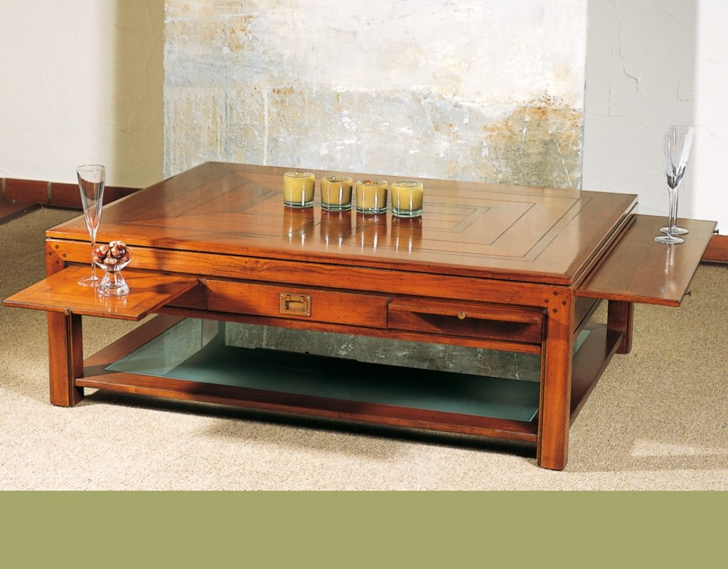 DeKoninck Chevalier klassieke kersenhouten salontafel