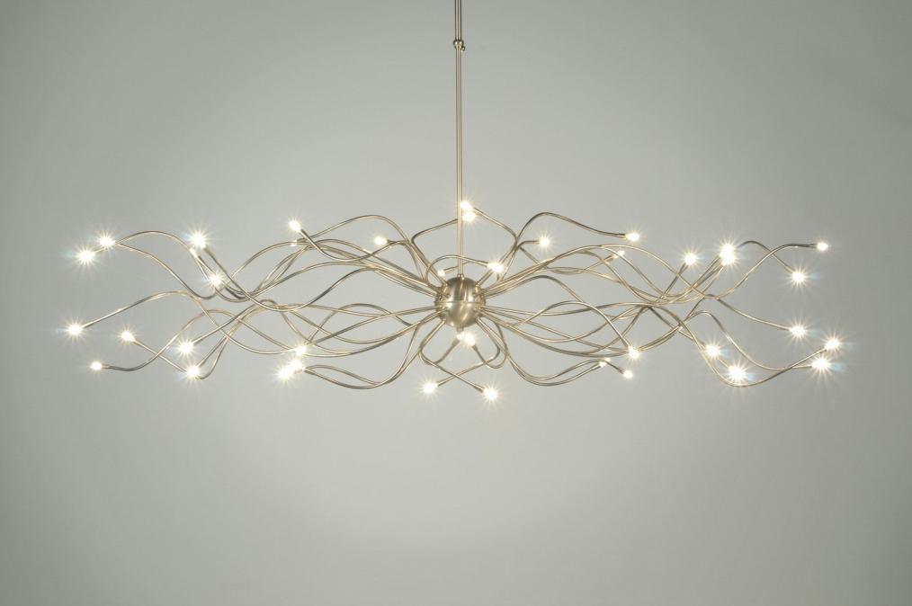 Hanglamp 40-lichts RVS