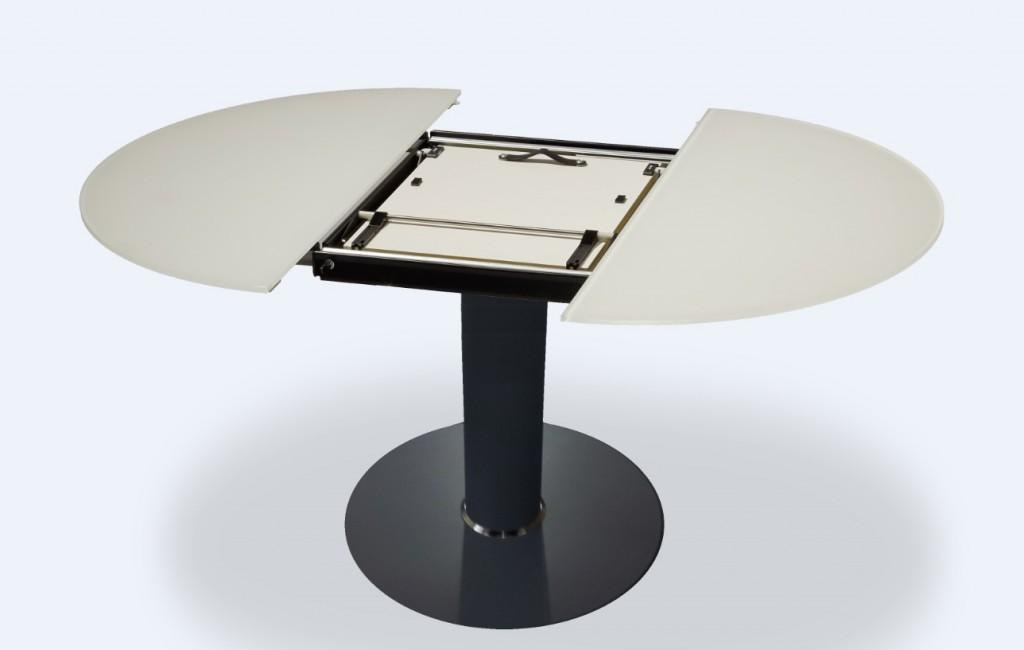 Goedkope ronde witte eettafel grant hoogglans zwart with goedkope