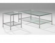 Moderne glazen salontafel