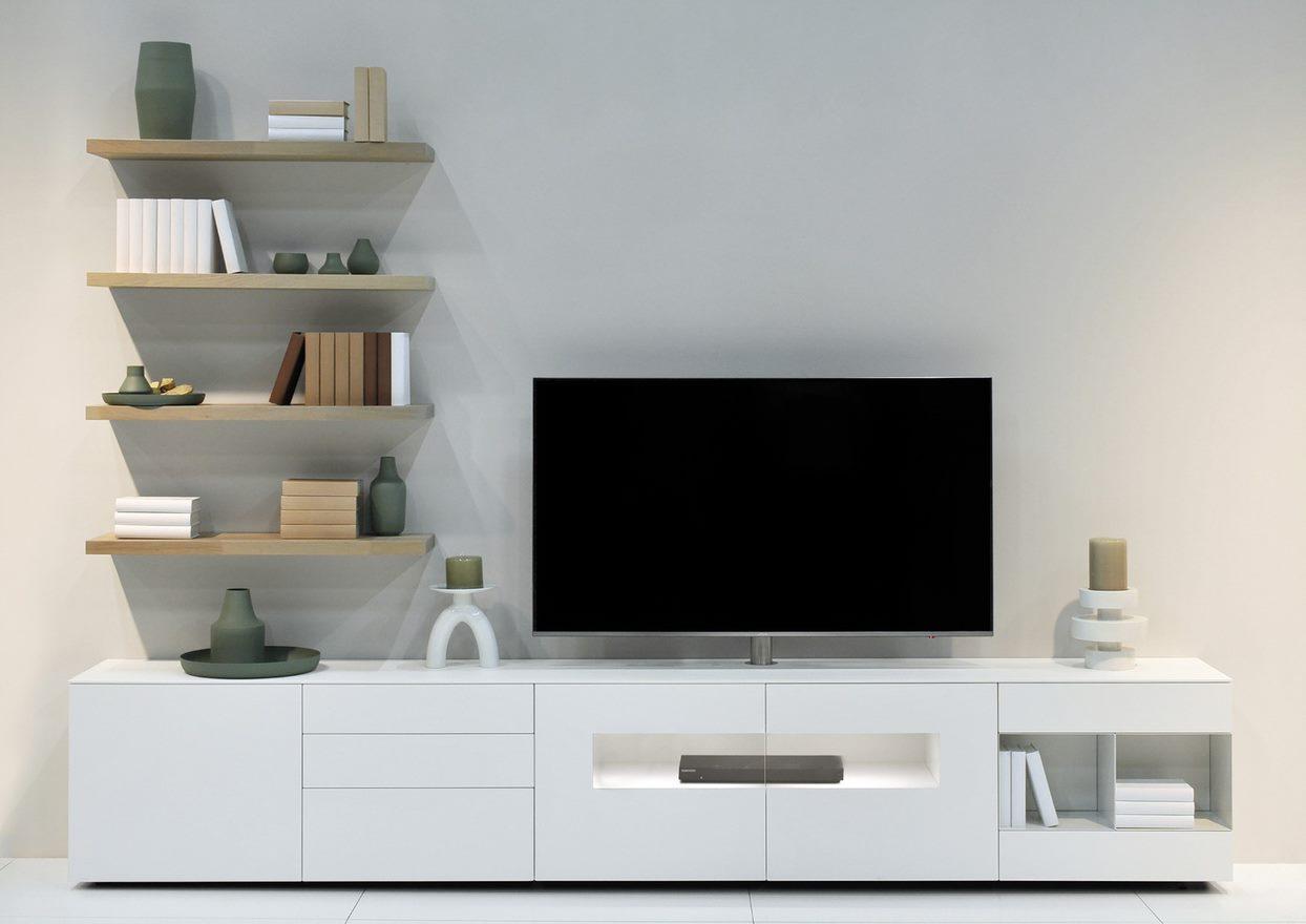 Karat wit hoogglans tv meubel