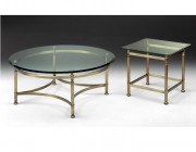 Select Design ronde salontafel glas brons