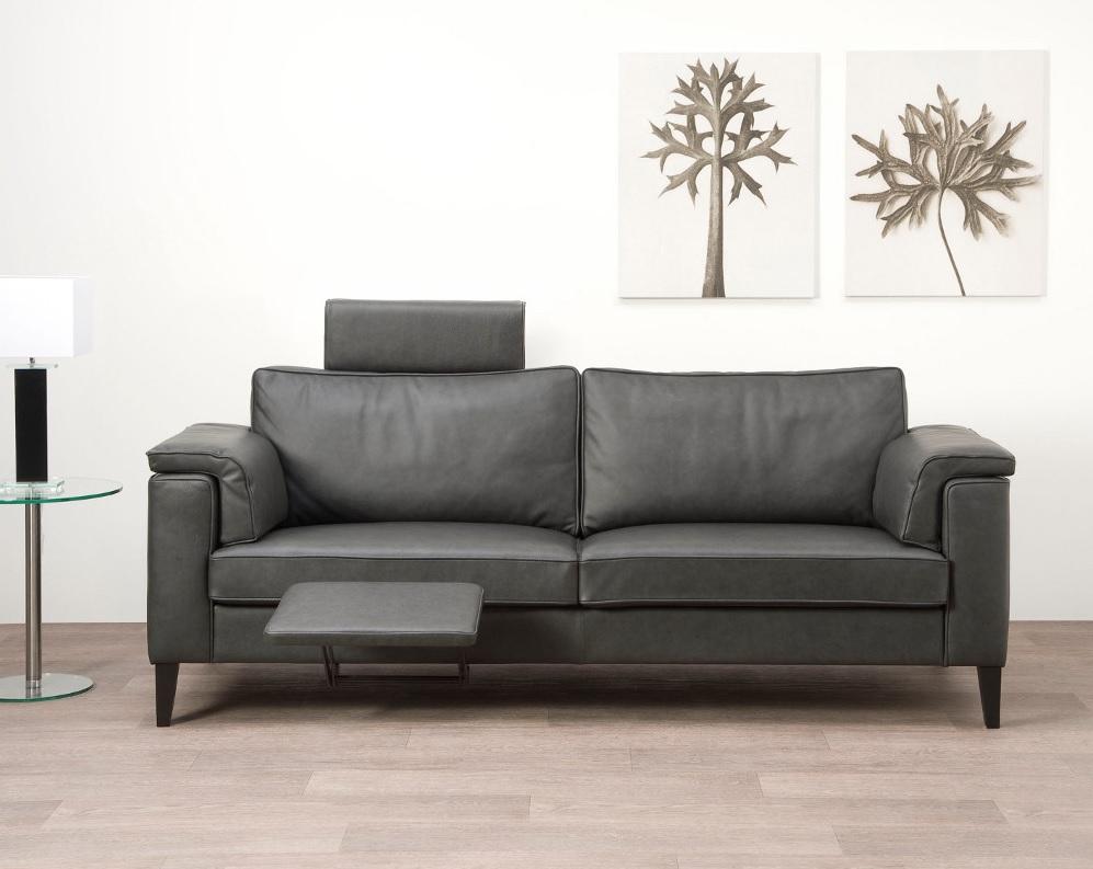 3b meubel Lex  bank met hoofdsteun