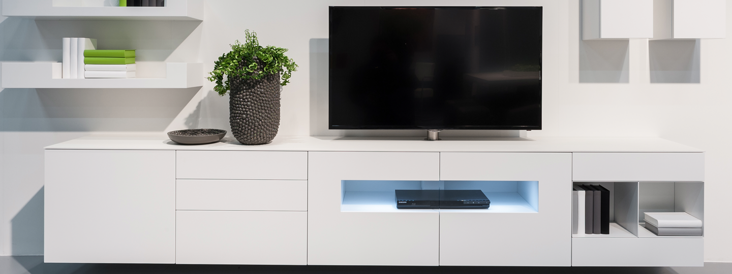 Tv Kast Hoog Glans Wit.Tv Meubel Hoogglans Wit Hoogebeen Interieur