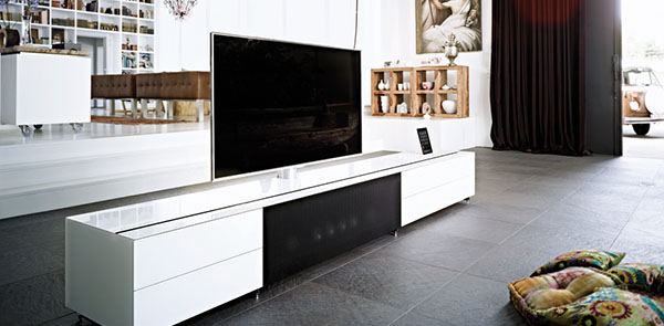Dressoir Tv Kast Wit.Tv Meubel Hoogglans Wit Hoogebeen Interieur