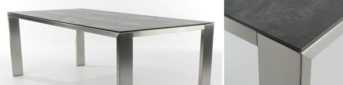 Uitschuifbare Eettafel Vierkant.Keramische Tafel Eettafel En Salontafel Hoogebeen