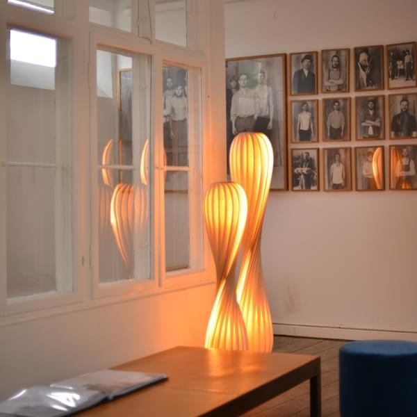 Vloerlamp beuken