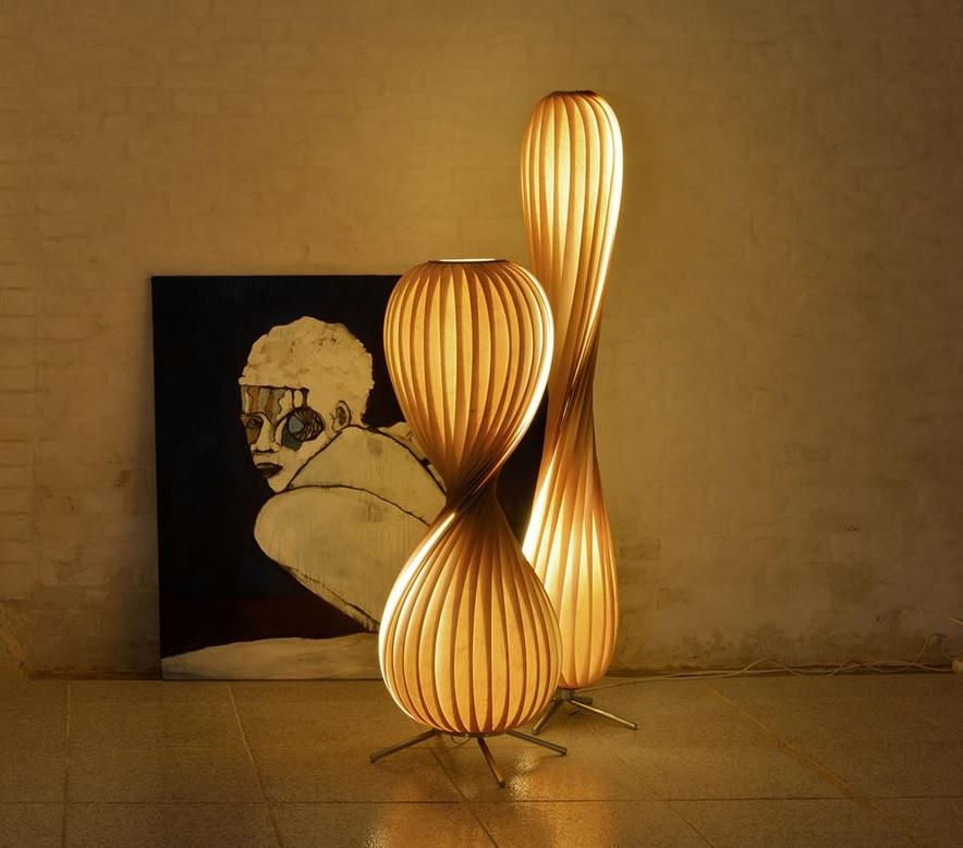 Vloerlampen berken hout