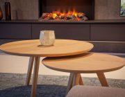 Ronde houten salontafels