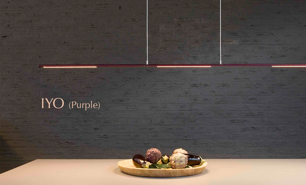 FERROLIGHT IYO Yin Yang purple | Hoogebeen Interieur