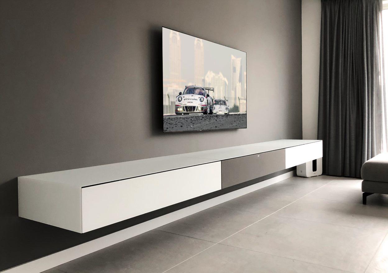 Spectral Ameno white zwevend tv meubel