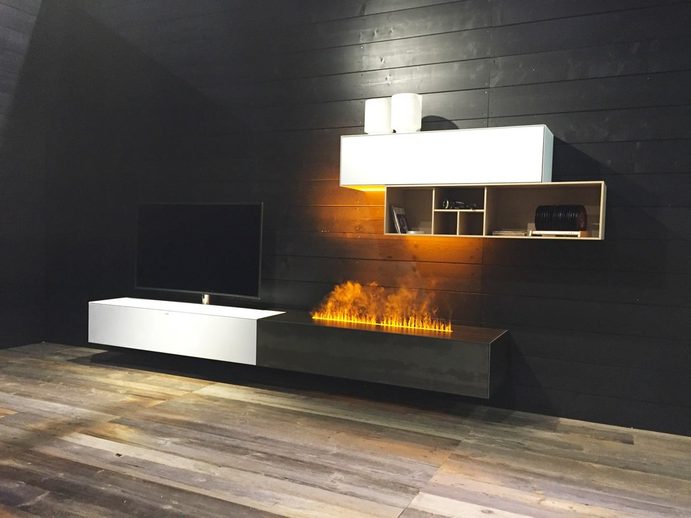 Spectral Ameno TV cabinet with integrated smart flame