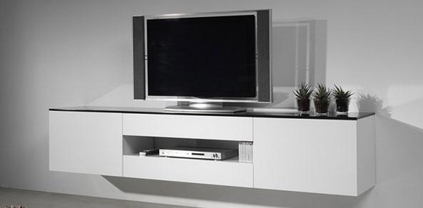 Tv Meubel Ophangen.Zwevend Tv Meubel Hoogebeen Interieur