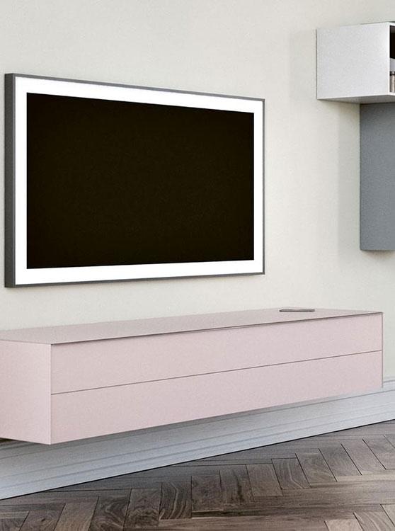 Moderne Glazen Tv Meubel.Zwevend Tv Meubel Hoogebeen Interieur