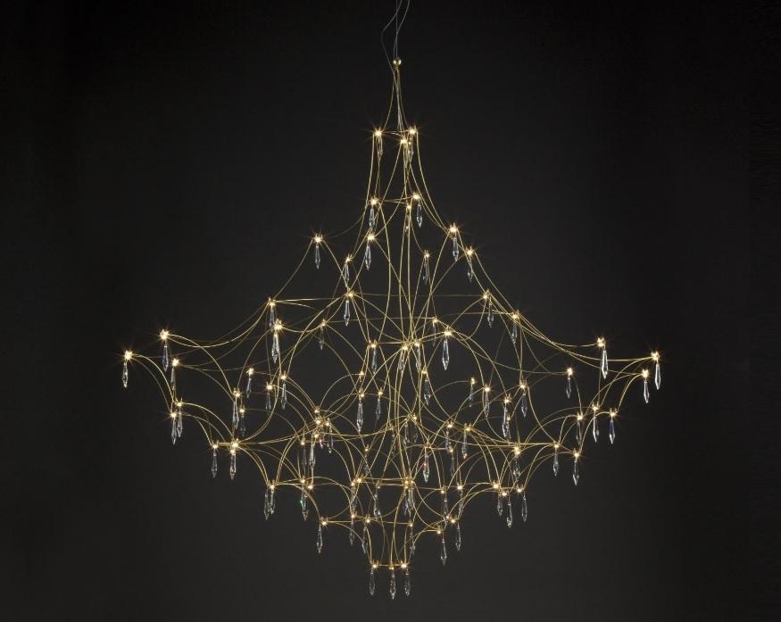 Quasar Mira hanglamp brass