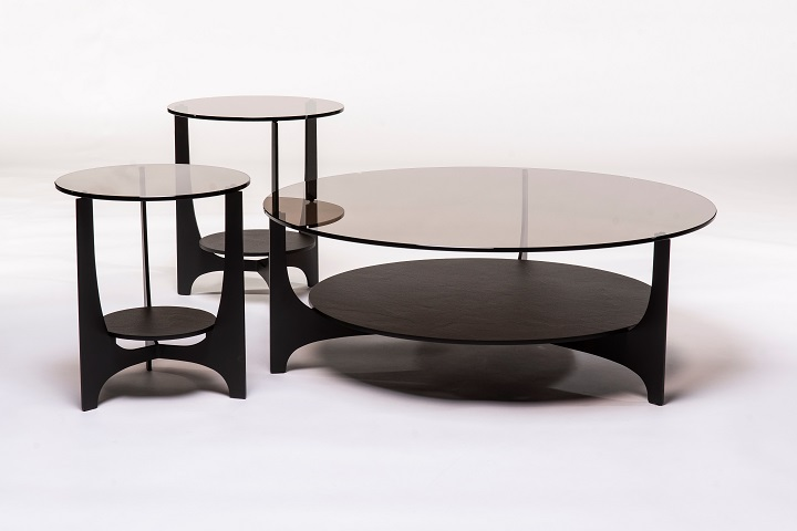 Metaform Parabol salontafel glas