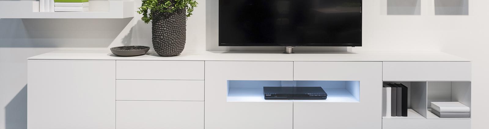 TV-meubel hoogglans wit Banner Image