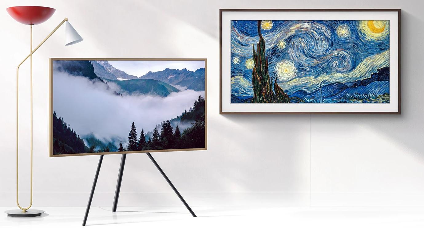 Samsung Frame TV op standaard