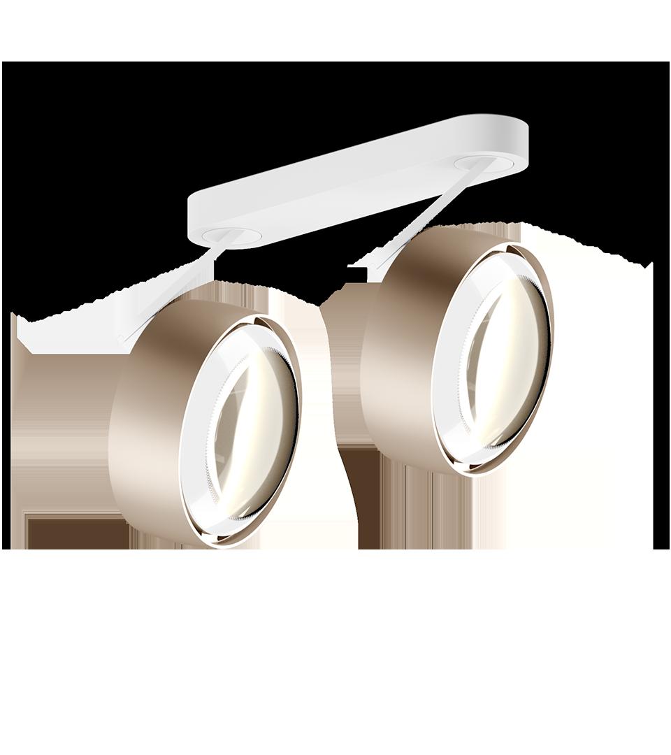 Più alto 3d doppio Occhio matte Gold   Hoogebeen Interieur