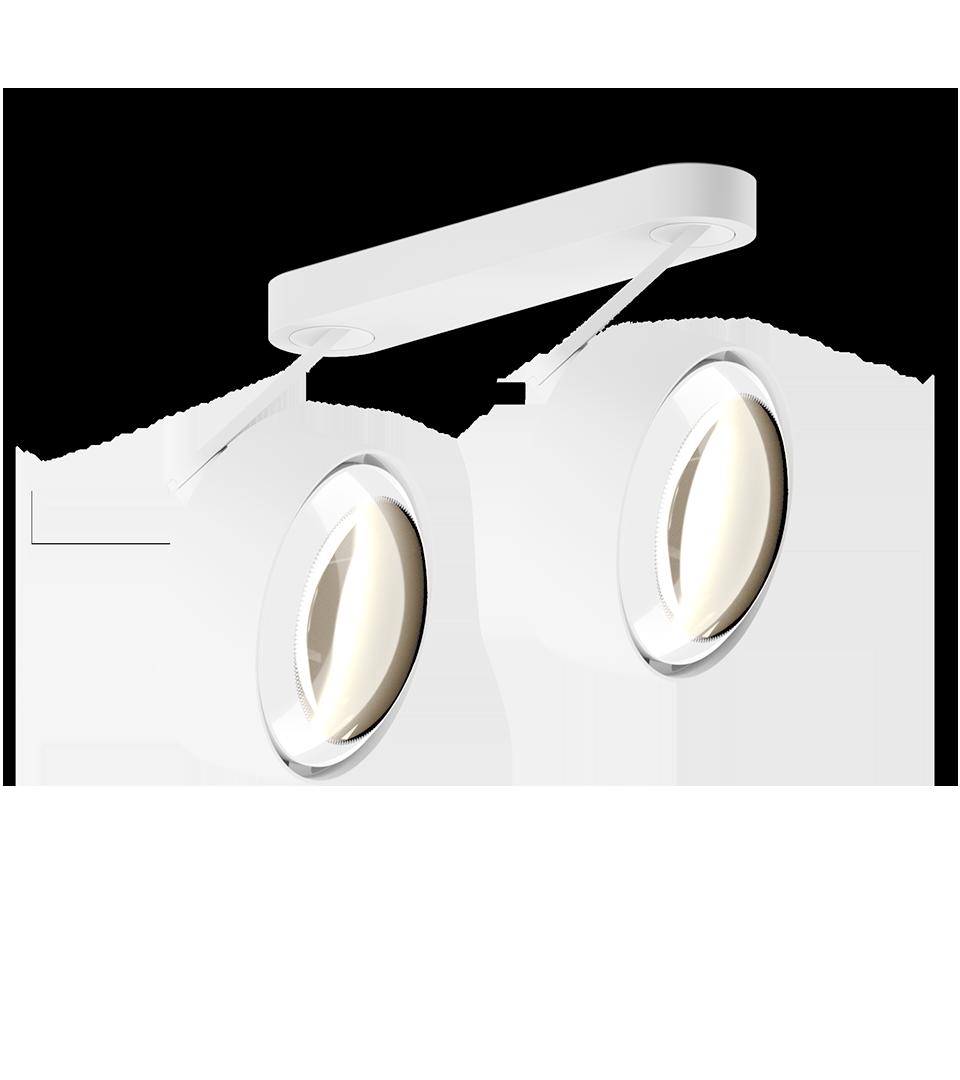 Più alto 3d doppio Occhio Matte White   Hoogebeen Interieur